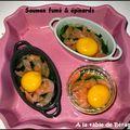 Petite cocotte saumon fumé et épinards