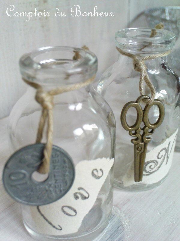 petites fioles d coratives comptoir du bonheur. Black Bedroom Furniture Sets. Home Design Ideas