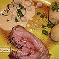 Gigot d'agneau aux salsifis.