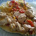 Émincés de poulet aux curry et poivrons