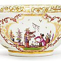 Bowl with <b>Chinoiserie</b> <b>decoration</b>, Meissen, ca. 1723