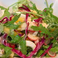 Salade folle fruits et fromages