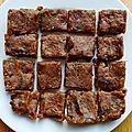 Raw caramel fudges (carrés fondants crus)