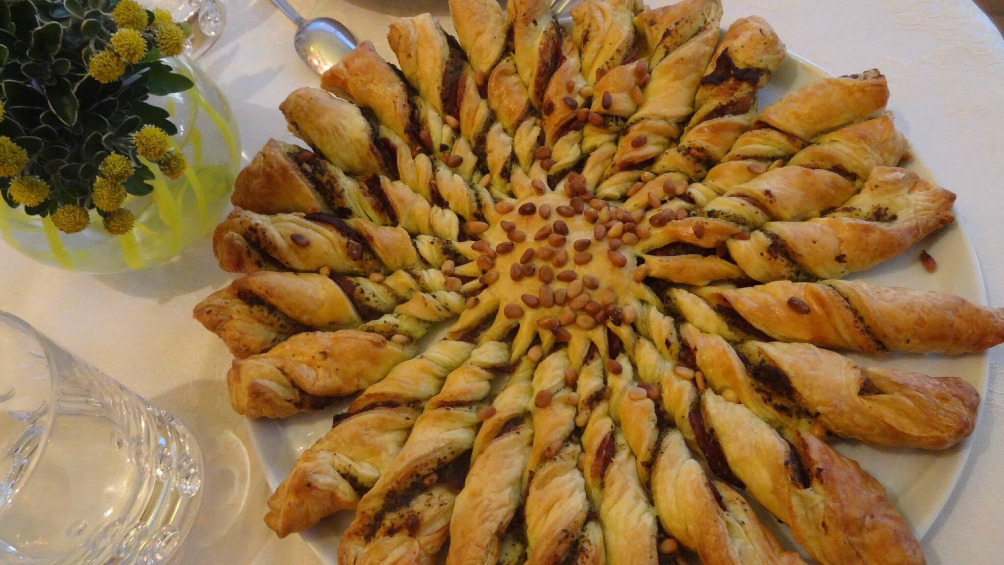 Tarte Soleil Pesto vert Parmesan et Jambon de Parme