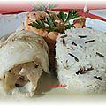 Roulades de poissons au basilic