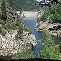 Autour du barrage du Gouffre d'Enfer – Rochetaillée – Massif du Pilat