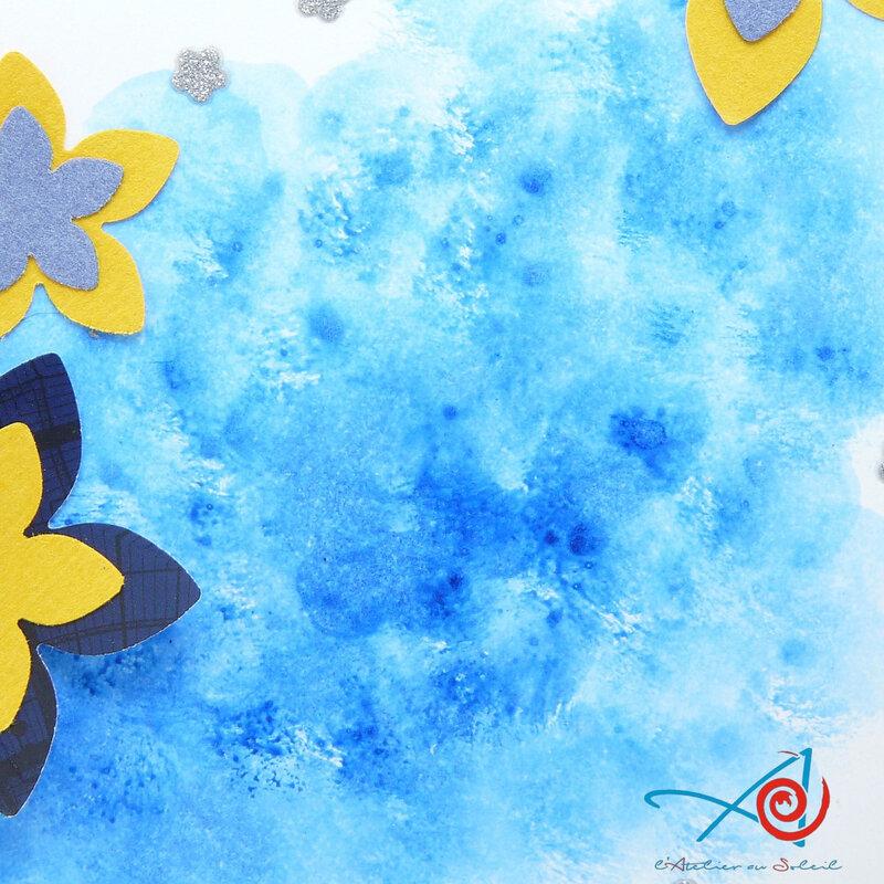 Carte nuage bleu - détail fond L'Atelier au soleil