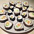 Sushi, maki et onigiri