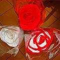 Ces roses ont été réalisées pour une amie ( le tuto est sur youtube)
