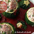 Courgettes farcies sauce tomate en mode express