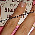 Nail art konad french m44