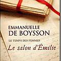 Le salon d'Emilie - Emmanuelle de Boysson