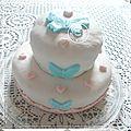 """Gâteau """"papillons"""" pour les 10 ans de clara avec les copines"""