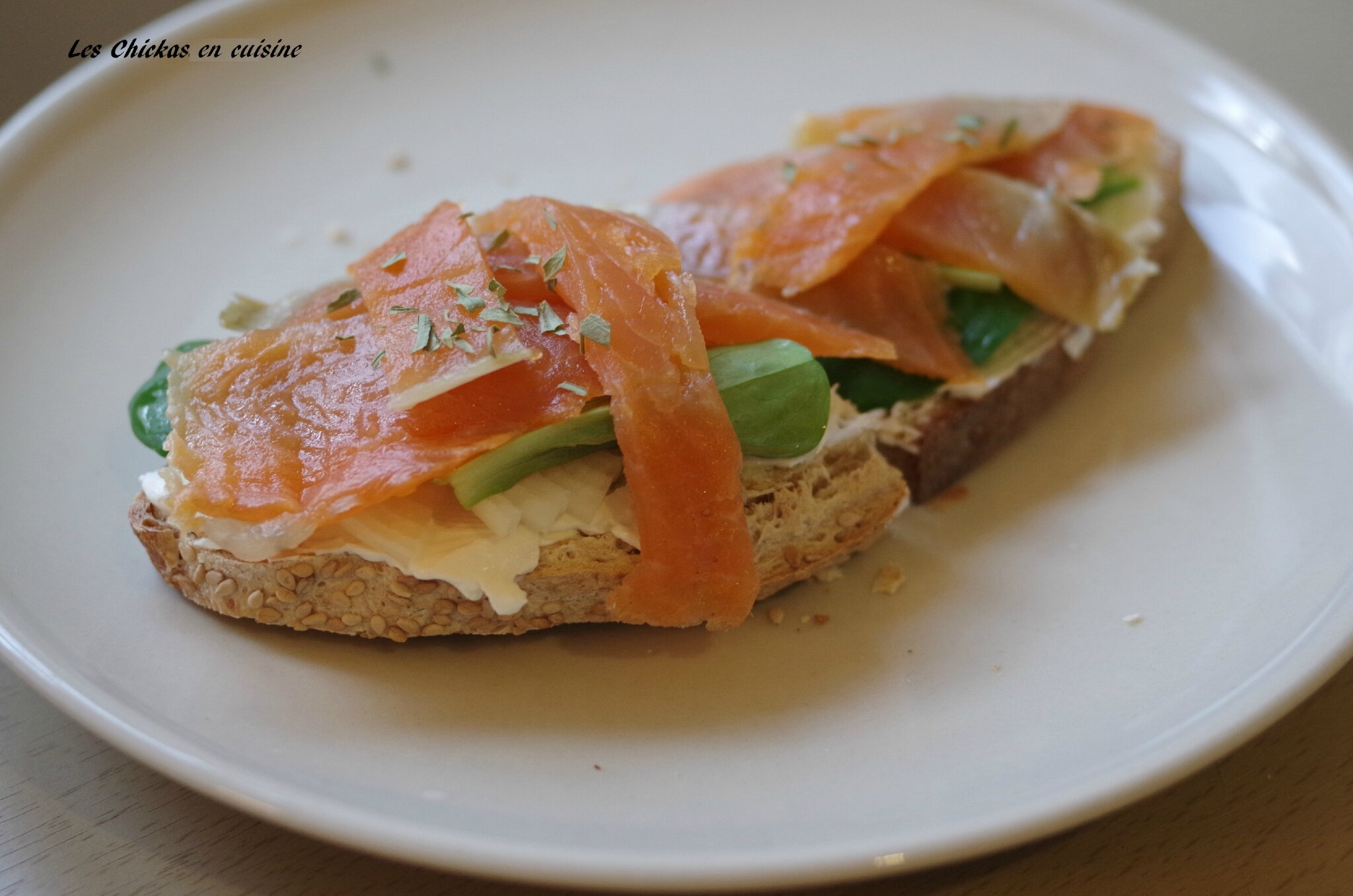 Tartine saumon-saint moret