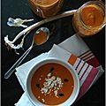 Soupe de tomates rôties a l'ail & au thym