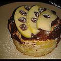 Gâteau pommes, amandes grand format