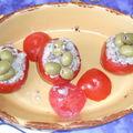 Tomates fourées aux rillettes de sardines