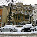 Un bâtiment de l'avenue Junot à Montmartre.