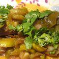 Poulet miel, gingembre, sauce soja et sa fondue de poireaux