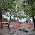 Le point de vue est fermé pour cause d'inondation. On peut voir la cascade derrière et son débit était impressionant
