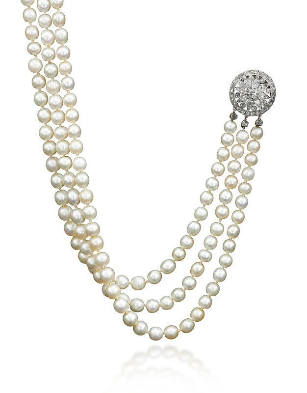 A natural pearl and diamond necklace - Royal Jewels from the Bourbon Parma Family - Sotheby's November 2018