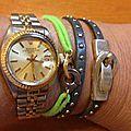 Le bracelet Ceinture cuir clouté de Christine