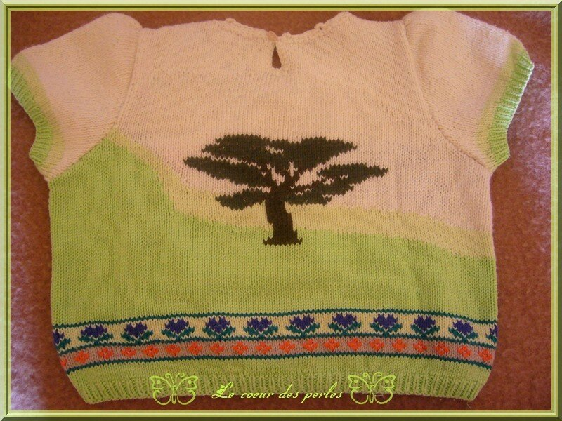 tricot paysage dos