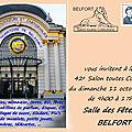 Annonce du 42e Salon Toutes Collections, le 11 octobre 2020 à Belfort