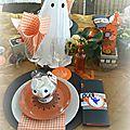 Table d'halloween 2015 fantôme