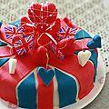 - l'union jack ou gâteau d'anniversaire so british pour un anniversaire pop -
