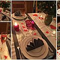 Ma table de saint-valentin . . .