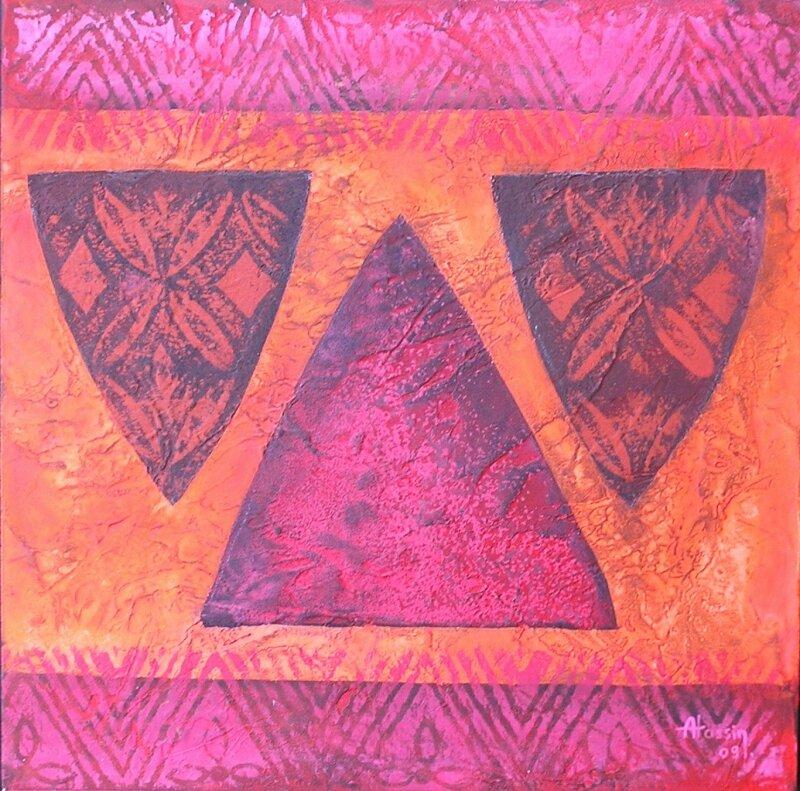 T'ethnique 2 - acrylique sur bois - 30x30cm - 2008