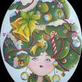 Joyeux Noël avec la dame sapin