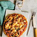 Pâte à pizza facile & légumes grillés