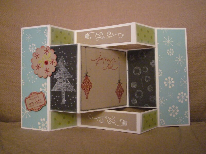 carte 3d pour no l atelier stampin 39 up photo de scrap cartes anniversaires voeux divers. Black Bedroom Furniture Sets. Home Design Ideas