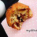 Muffins coco, chocolat & carambar