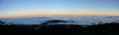 2008 12 24 Panorama de la mer de nuages depuis le Pic du Lizieux