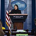 <b>États</b>-<b>Unis</b> : Une femme voilée a effectué le point de presse à la Maison-Blanche