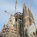 Barcelone, la Sagrada Familia (Espagne)