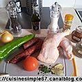 Cuisses de poulet au chorizo (cuisson au four)