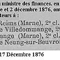1876 02 décembre : changement de percepteur