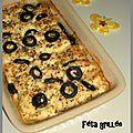 Féta grillée aux olives