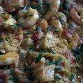 Crevettes thaï au curry, cannelle et gingembre