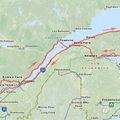 Mon trajet vers la Gaspésie