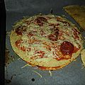 pizza revisitée à la <b>fajitas</b> (restes de galettes)