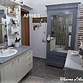 salle de bain relookée avec peintures Annie Sloan