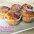 Muffins aux poires et chocolat ( SANS SUCRE - SANS BEURRE)