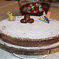 Gateau magique vanille et chocolat