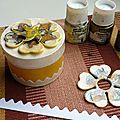 Diy:customiser une boîte de fromage avec les peintures à effets de pebeo