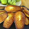Madeleines moelleuses au citron
